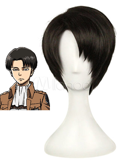 Buy Attack on Titan Shingeki no Kyojin Rivaille/Levi Halloween Cosplay Wig Halloween for $22.79 in Milanoo store
