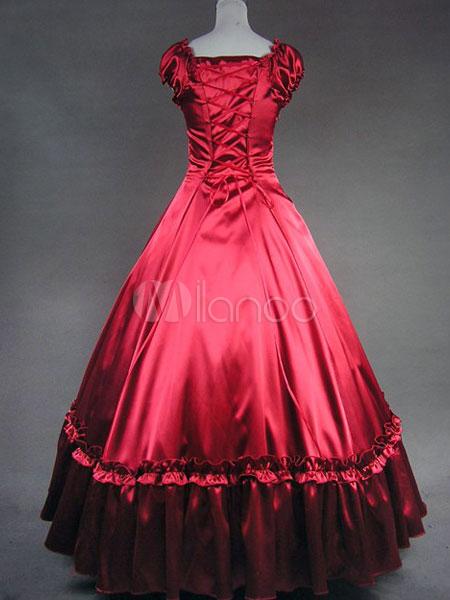 Elegant Gothic Lolita Victorian Aristocrat Long Dress Gown