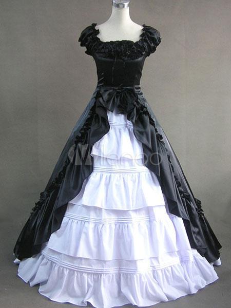 Elegant Gothic Lolita Victorian Aristocrat Long Dress Gown - Milanoo.com 07944017ebff