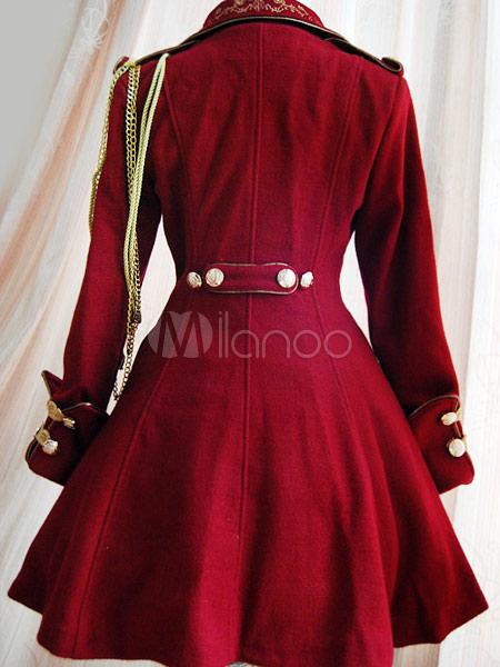 classic black button wool lolita jackets milanoocom