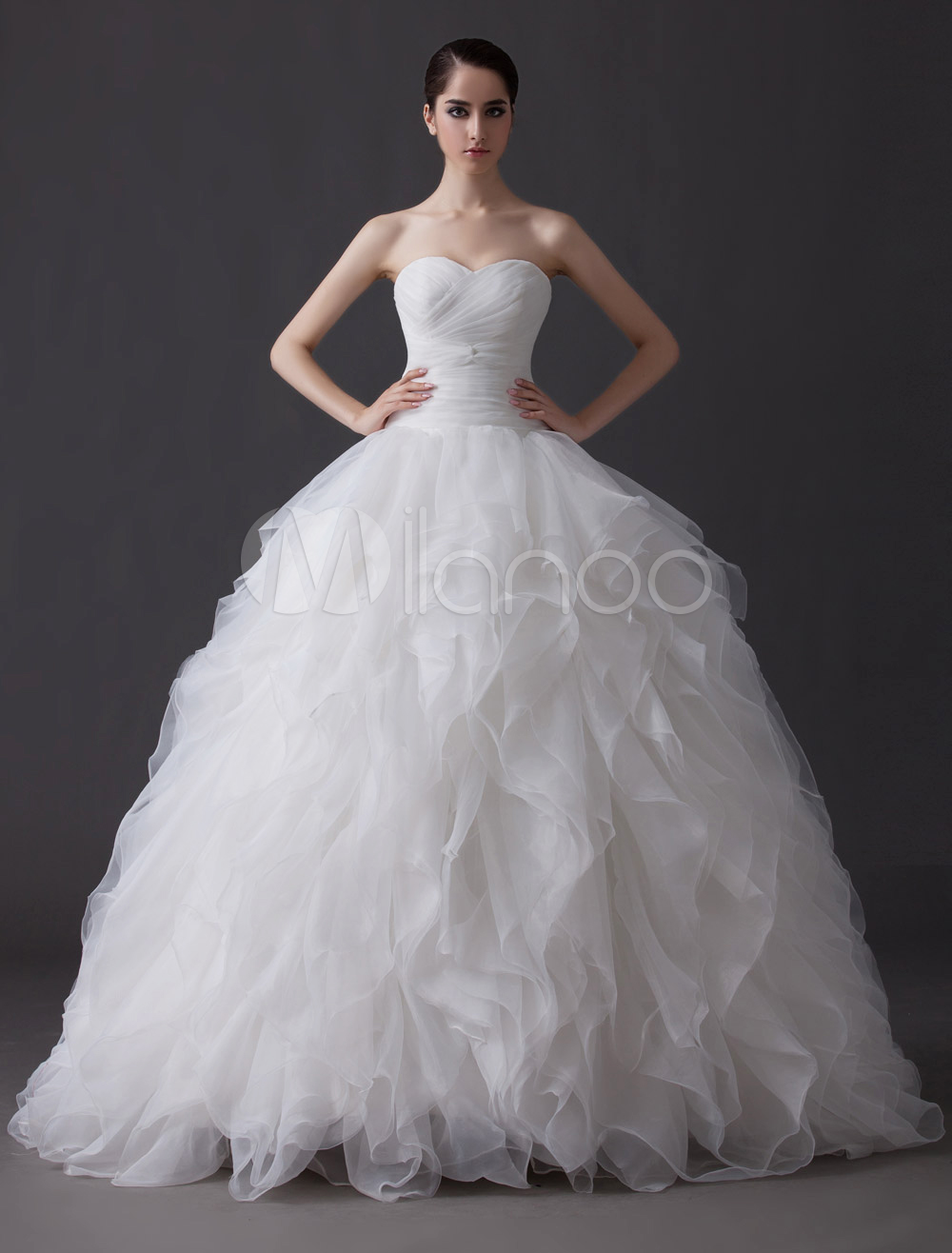 tiered wedding dress ethereal gown tiered cascading ruffle ivory wedding 7997