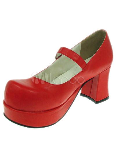 Sweet Lolita Chunky Heels Shoes Platform Round Toe