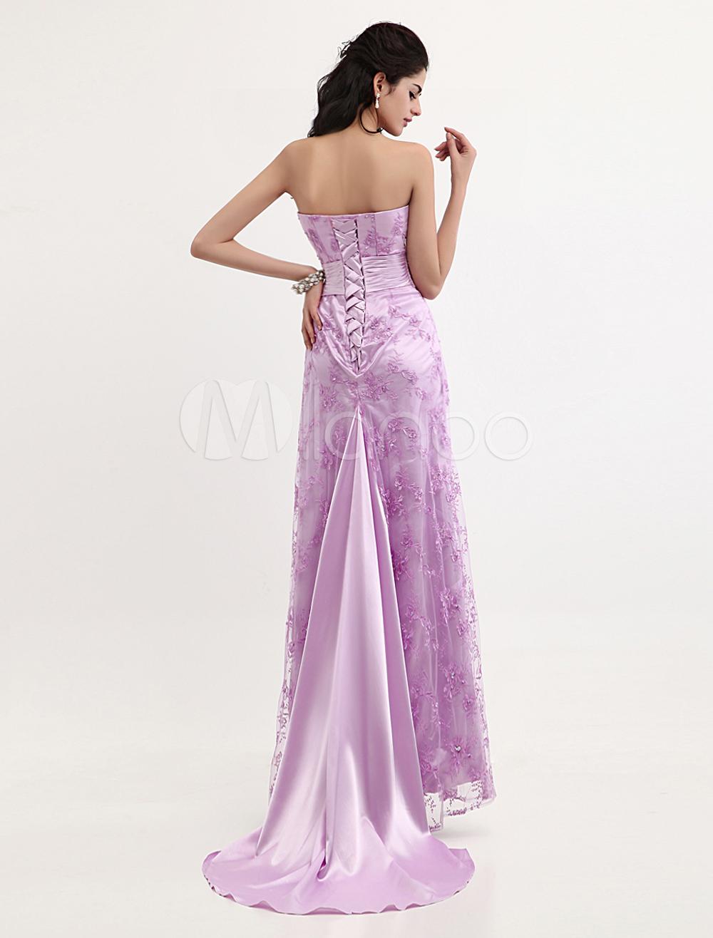 Vestido de Premios Globo de Oro de seda sintética Rosa púrpura con ...