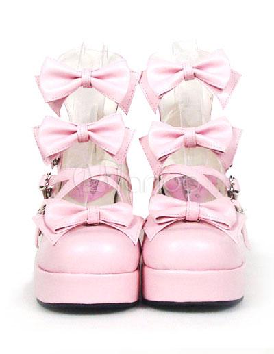 Zapatos Lolita Dulce Tacones Pony Platform Lazo r7OiNZUBak
