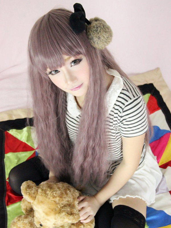 Buy Popular Taupe Rayon Long Curly Lolita Wigs for $33.59 in Milanoo store