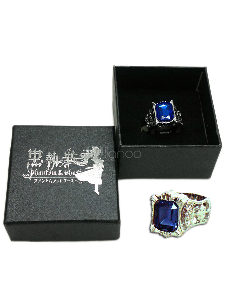 Black Butler Cosplay Sapphire Ring Halloween