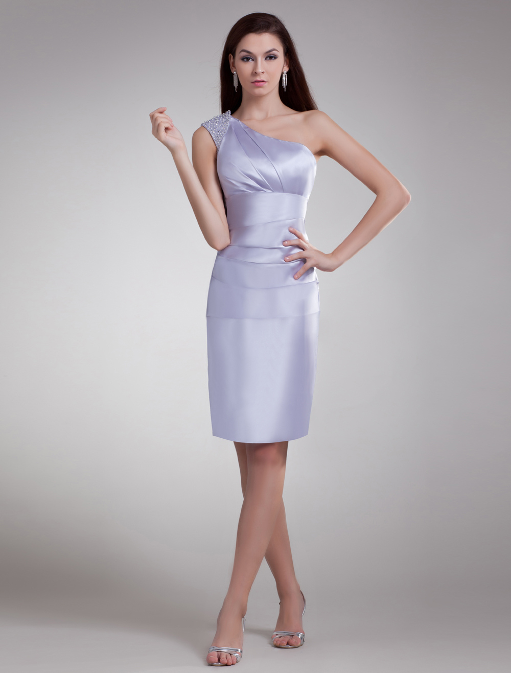 One-Shoulder Short Cocktail Dress