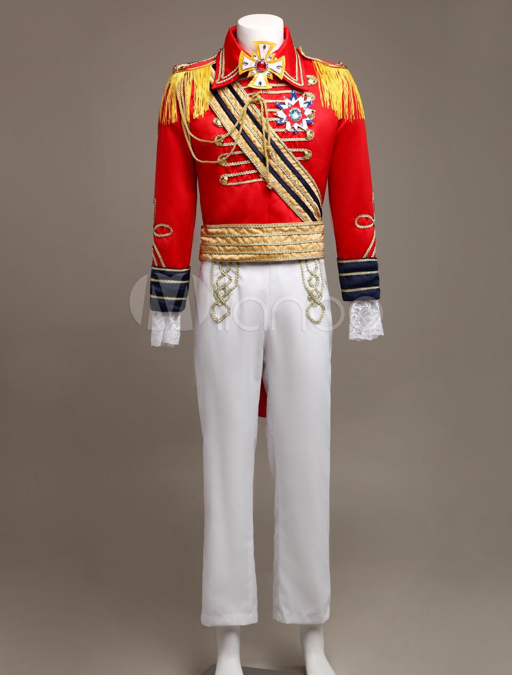 Royal Retro Costume Men S Red European Vintage Prince