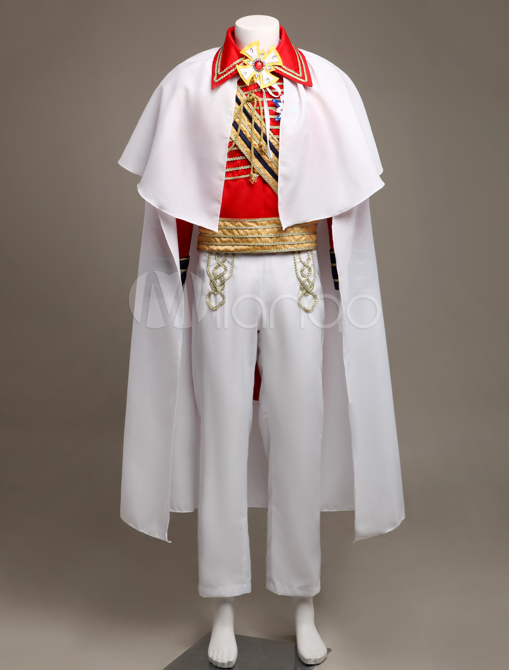 Royal Retro Costume Men S Red European Vintage Prince