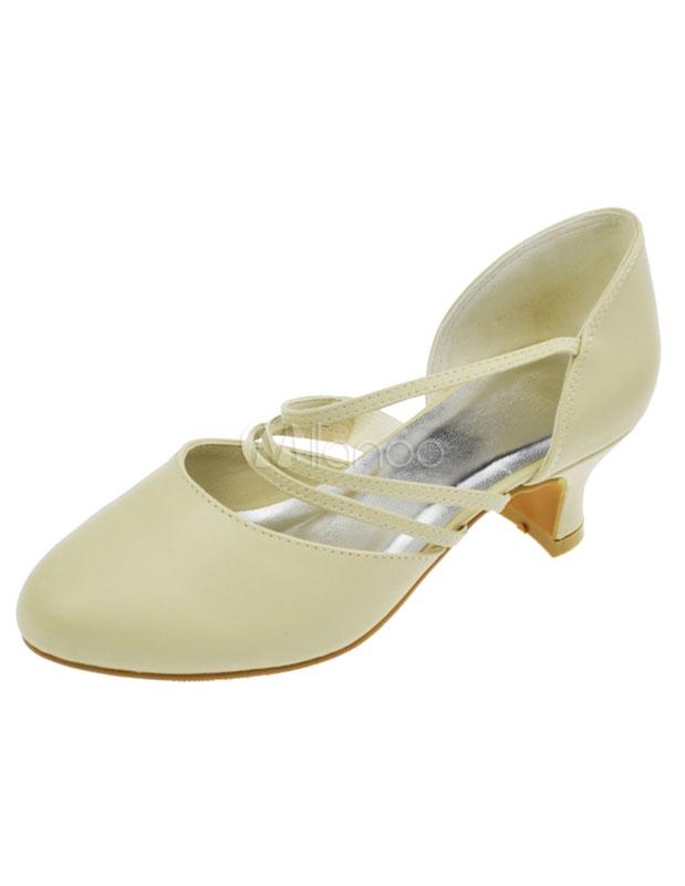 1 1/2\'\' Ivory PU Pointed Toe Wedding Shoes