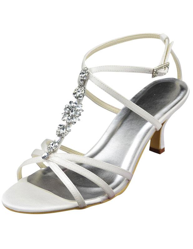 472c93273 2 1 5   Heel Ivory Satin Rhinestone Wedding Sandals - Milanoo.com