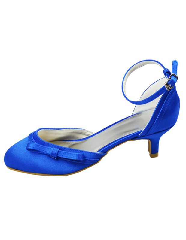 Blaue Brautschuhe Mit Schleife Und Fesselriemchen Milanoo Com