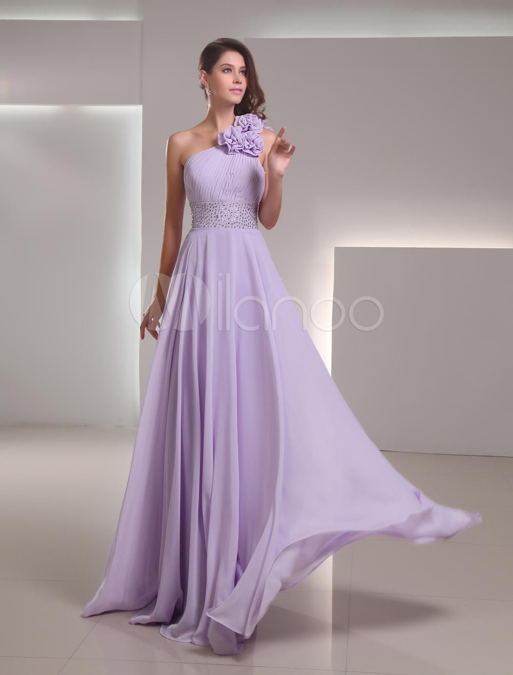 ad391902b Vestido de fiesta de chifón con diamantes de imitación de línea A-No.1 ...