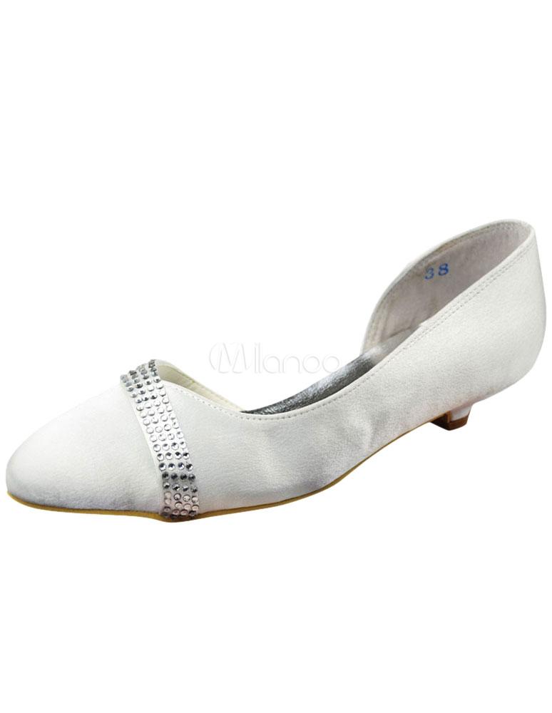 White 4/5'' Satin Wedding Shoes-No. ...