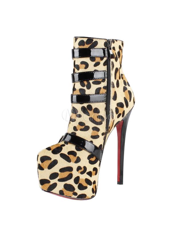 7dea4fcf25f6 Sexy leopard print horse hair high heel booties jpg 619x800 Sexy leopard  print heels