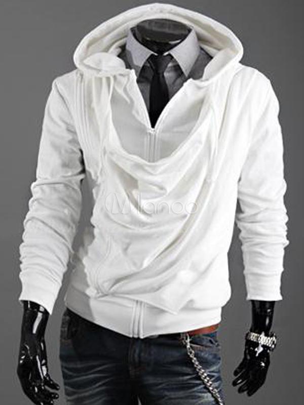 size 40 f451a 9c3a7 Casual Unicolor plissettato cotone felpa uomo