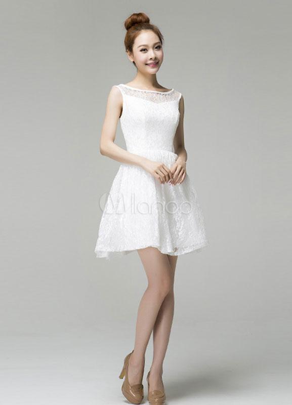 c974a6244b95 Vestito corto bianco di pizzo – Abiti in pizzo