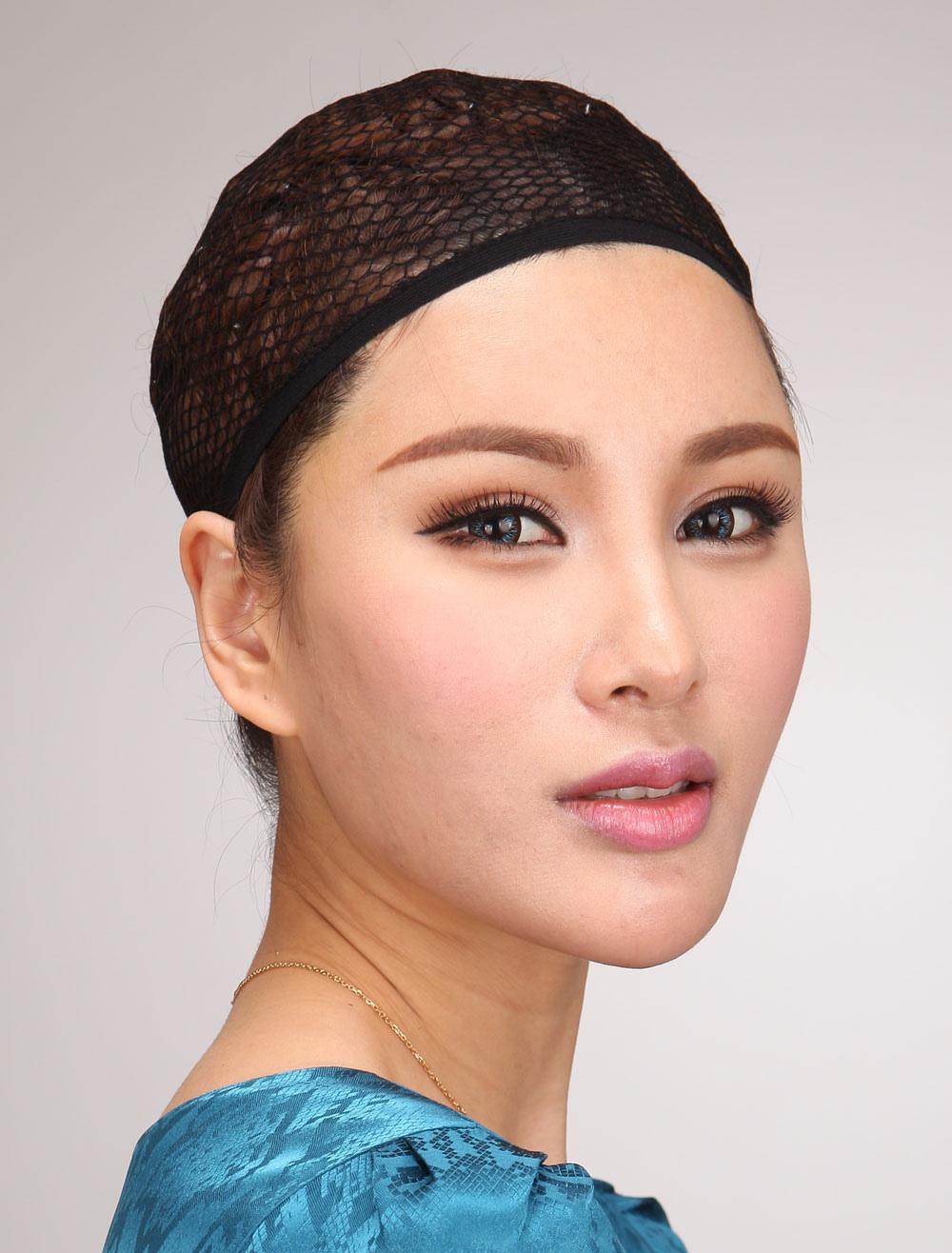 Wigs Accessories Mesh Wig Cap Synthetic Black
