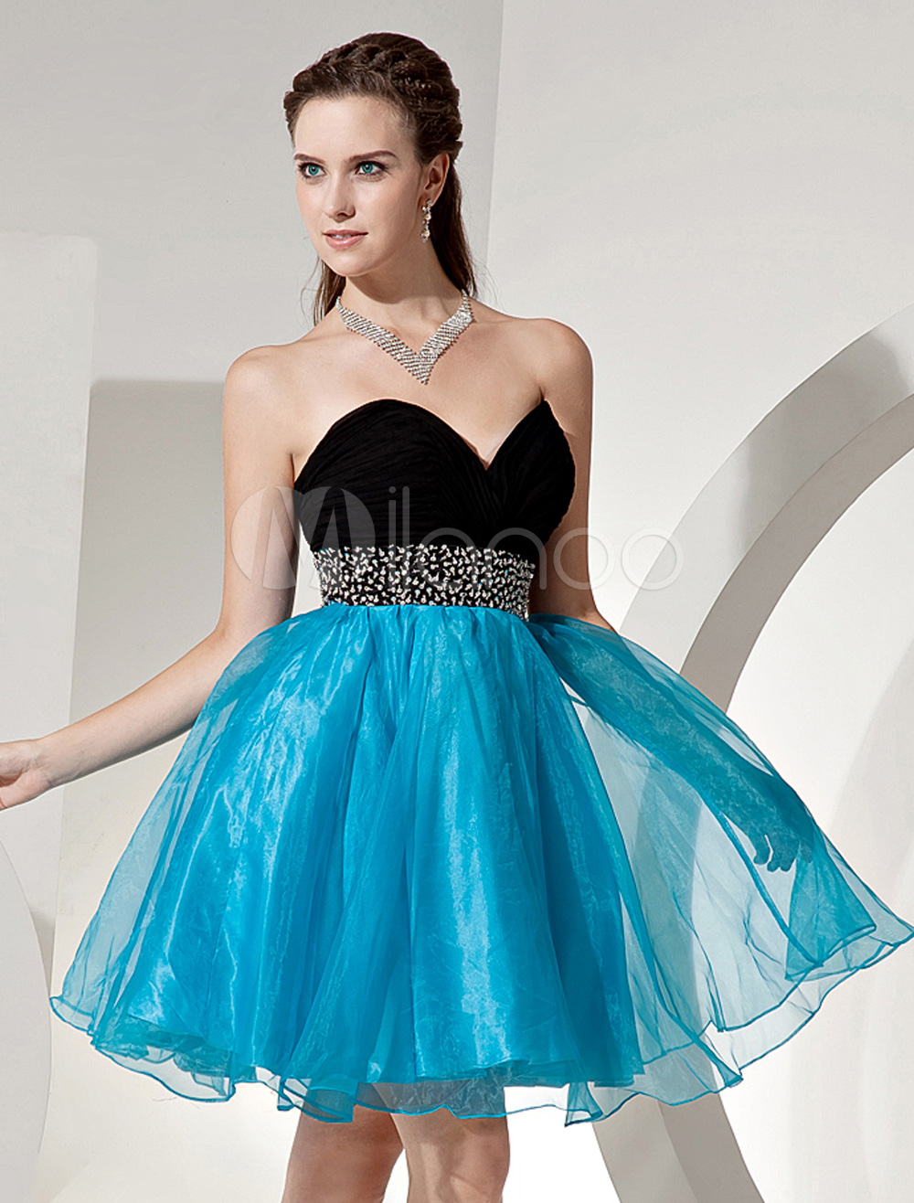 Sweet Sweetheart Strapless Homecoming Dress with Beaded Waist ...