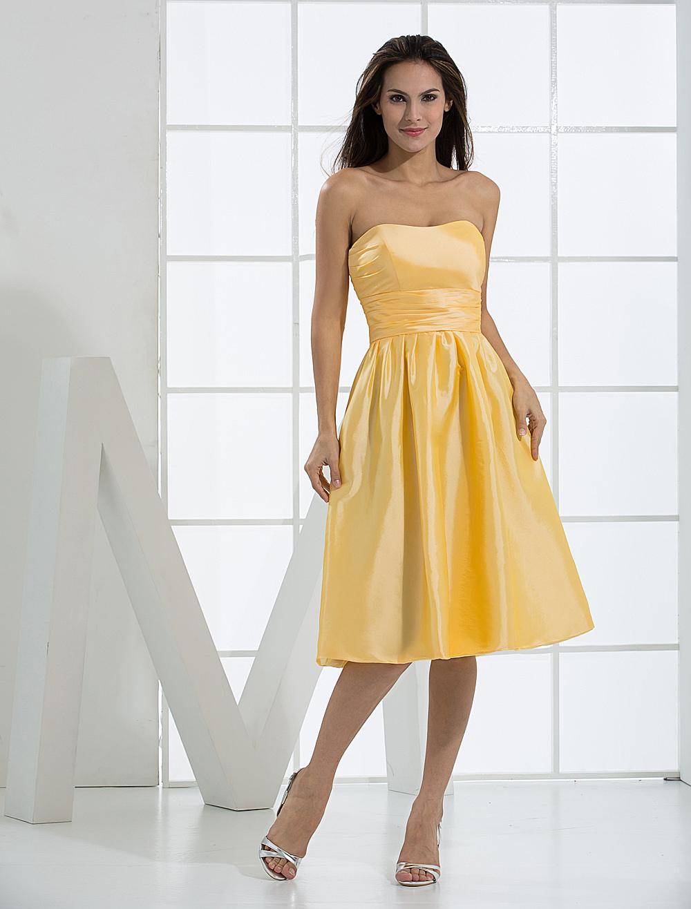 Strapless Wrapped Taffeta Homecoming Prom Dress