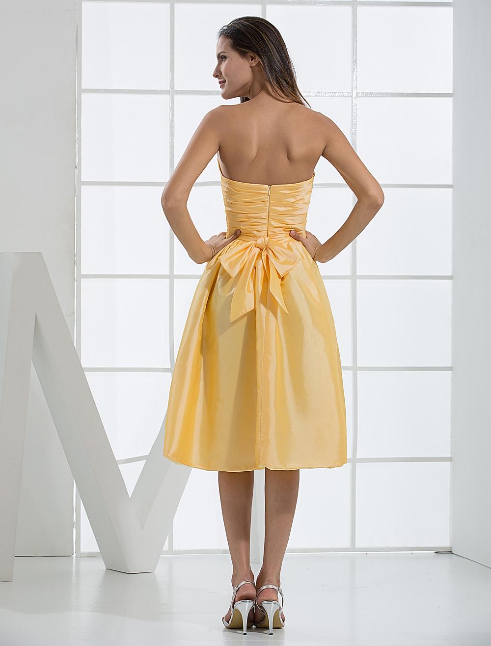 Trägerloses Prom-Kleid in Narzissengelb - Milanoo.com