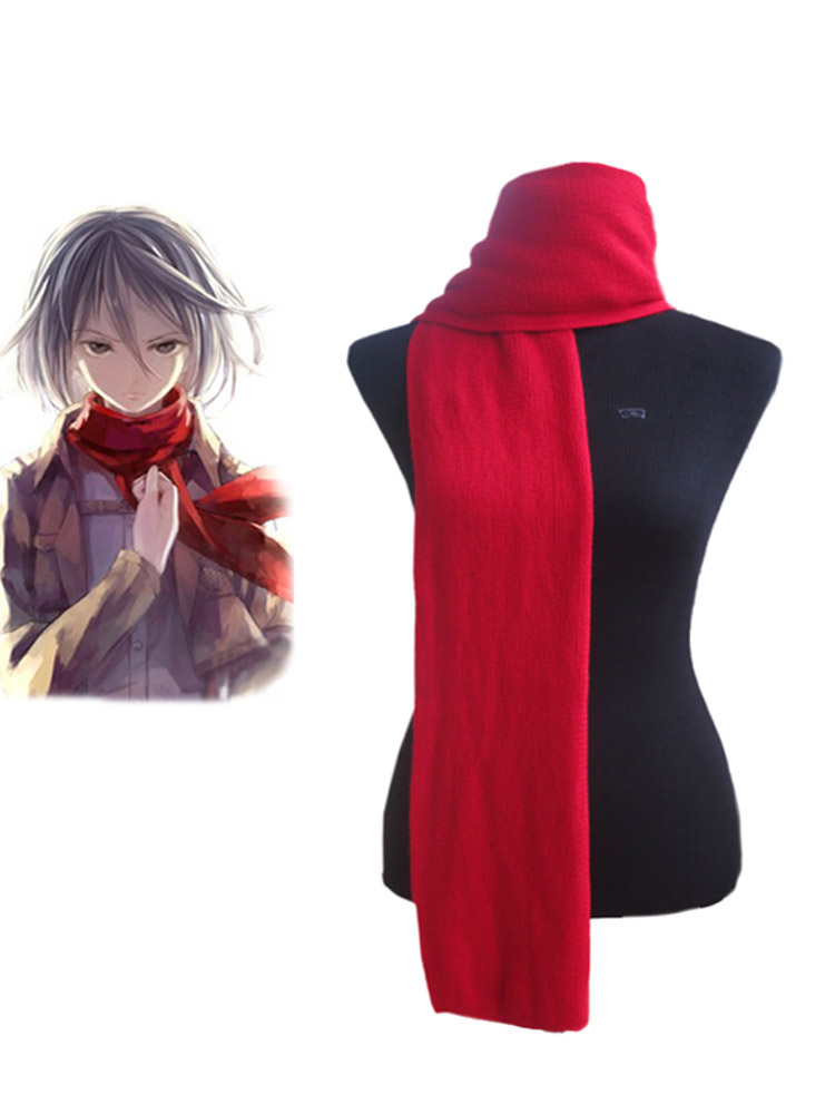 Attack On Titan Shingeki No Kyojin Mikasa Ackerman Cosplay Red Scarf