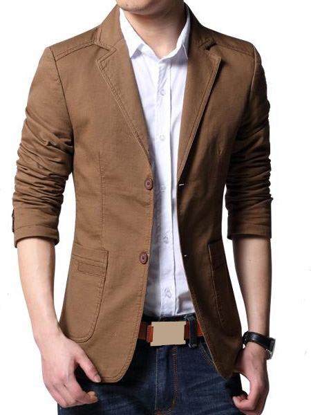 veste blazer marron les vestes la mode sont populaires. Black Bedroom Furniture Sets. Home Design Ideas