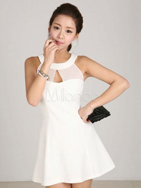 3b70195cf4 Vestido corto de tul sin mangas de estilo moderno - Milanoo.com