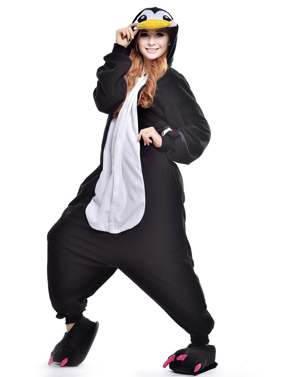 Kigurumi Pajama Penguin Onesie For Adult Fleeceflannel Animal