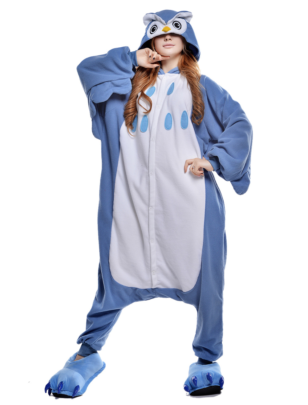 2e8bccf33f7f Kigurumi Pajama Owl Onesie For Adult fleece Flannel Animal Costume  Halloween-No.1 ...