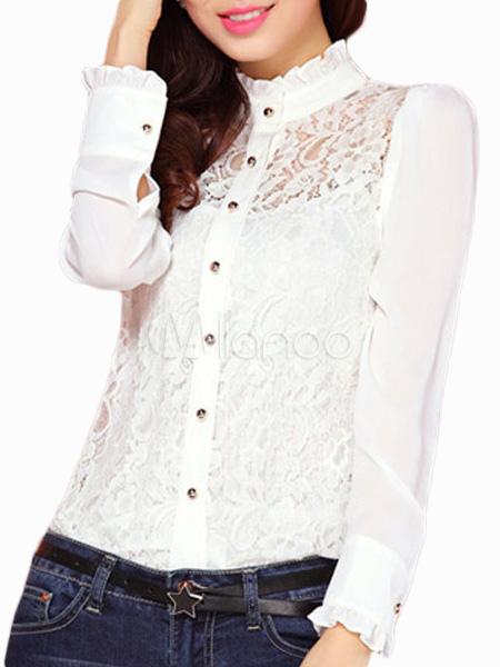 Damen Bluse mit Stehkragen Rabatt Mit Mastercard Billig Verkauf Websites Countdown Paketverkauf Online Verkauf Großhandelspreis Freies Verschiffen Aus Deutschland SBIM8Syt