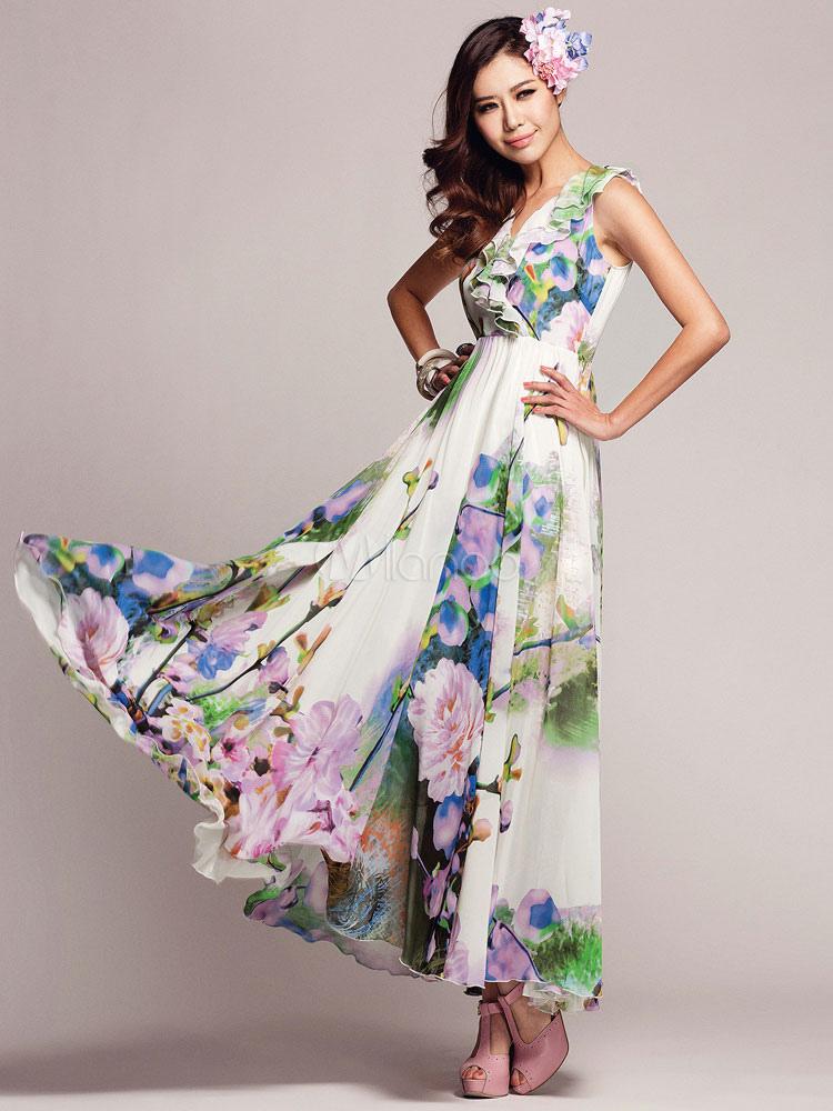 Vestidos Largos Con Estampado Floral Vestidos De Coctel 2019