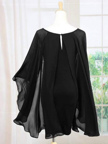 Chiffon Cape Dress Milanoo Com