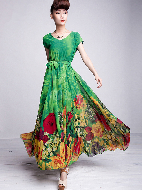 Langes kleid grun