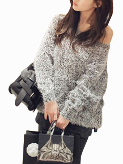 Off-The-shoulder Oversized Pullover