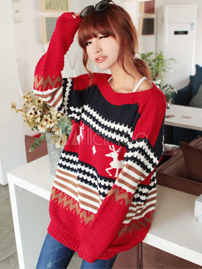 Oversized Christmas Sweater - Milanoo.com