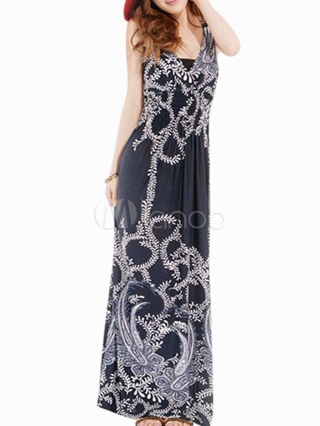Sleeveless Boho Maxi Dress
