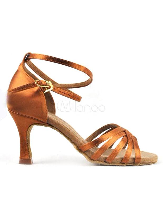 Zapatos de bailes latinos de seda y satén de estilo informal ssZ3q