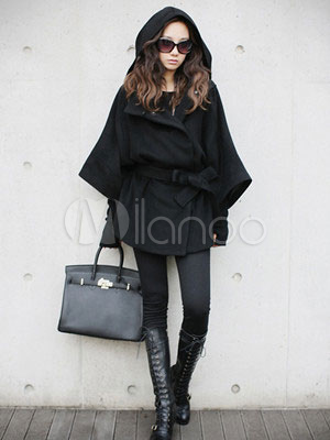 the best attitude d8662 483f9 Black-Long-Sleeves-Fox-Fur-Collar-Thin-Cashmere-Womens -Pea-Coat-127154-867734.jpg