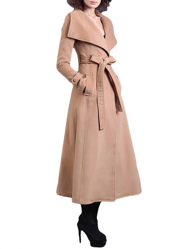 Schöner Mantel Gürtel Mit Langer Und Umlegekragen rrR1aqw
