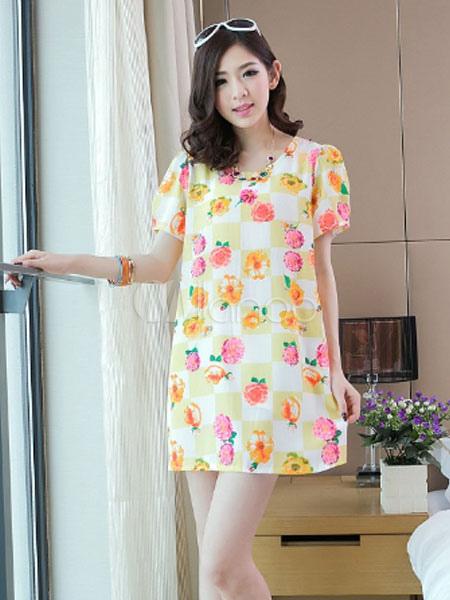 acdcd7035 Vestido para embarazadas de chifón con estampado floral - Milanoo.com