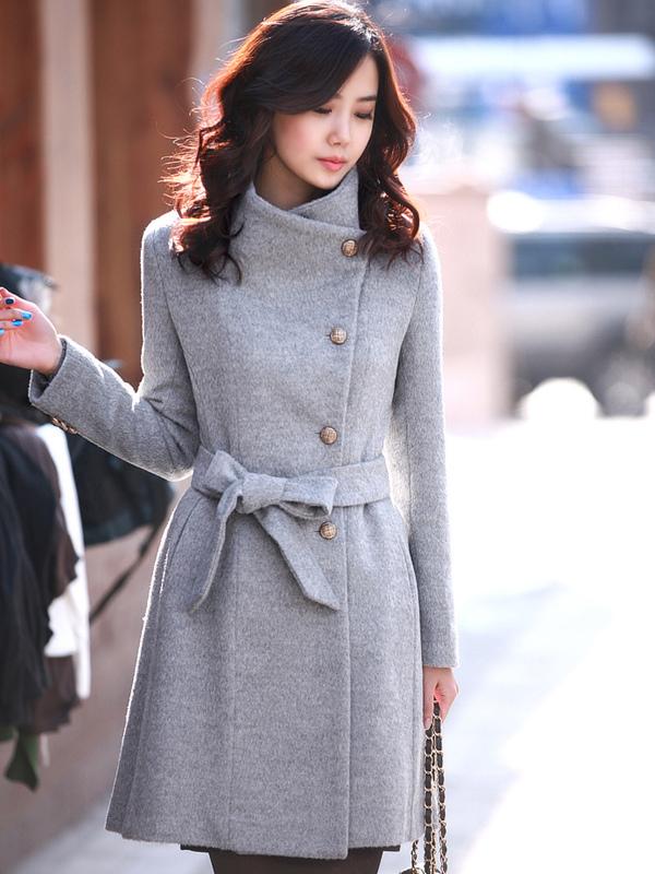 Cappotto grigio moderno in cashmere - Milanoo.com 07f6b3e1e9b