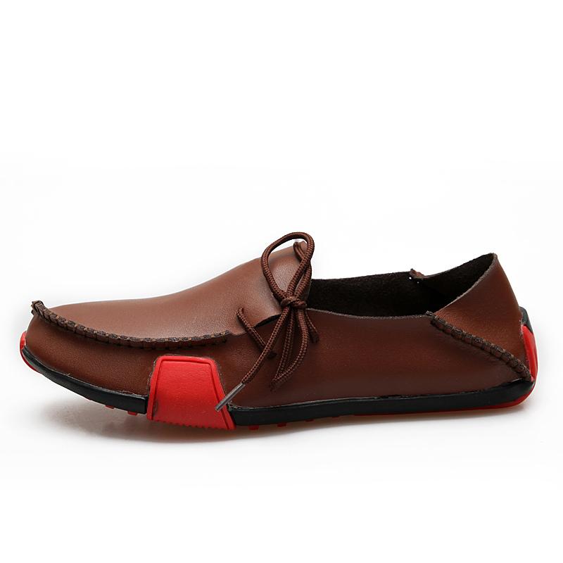 ... Loafers en cuir color-block à semelle caoutchouc-No.4 ...