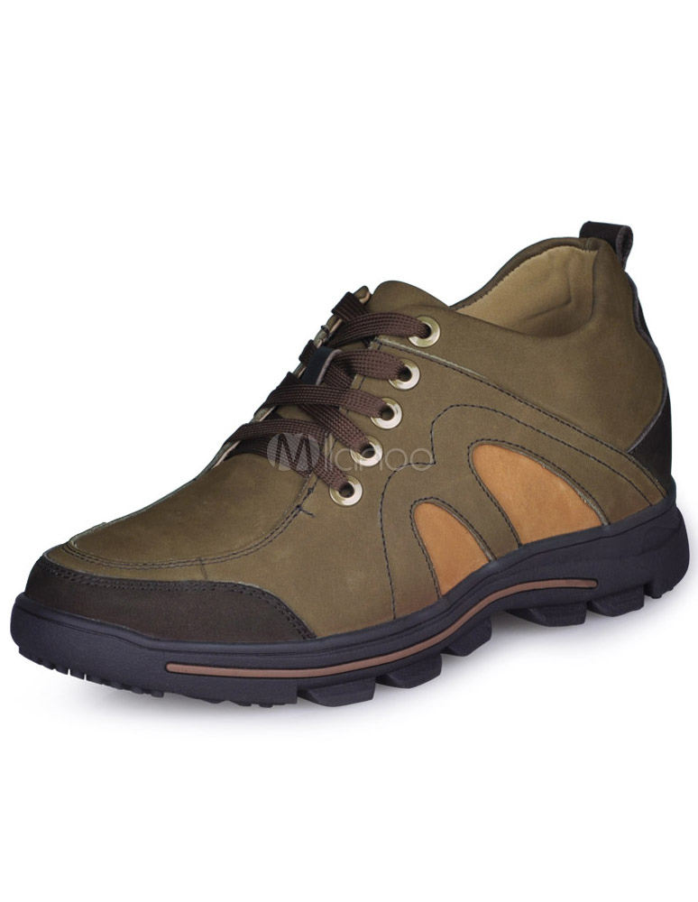 Comfortable Coffee Cow Leather Rubber Sole Men's Safety Shoes
