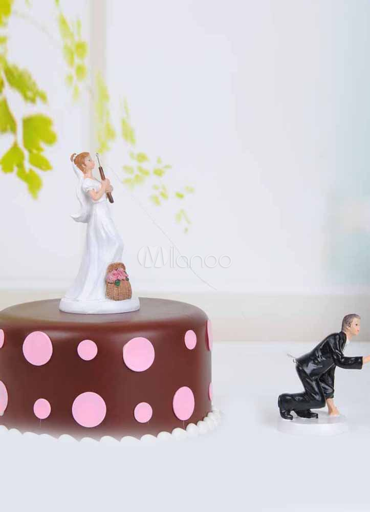 Buy Classic Traditional Figurine Funny Wedding Cake Toppers for $13.49 in Milanoo store