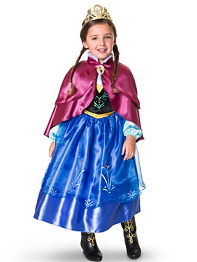 stile alla moda goditi un grande sconto personalizzate Blue Frozen Anna Dress Halloween - Milanoo.com