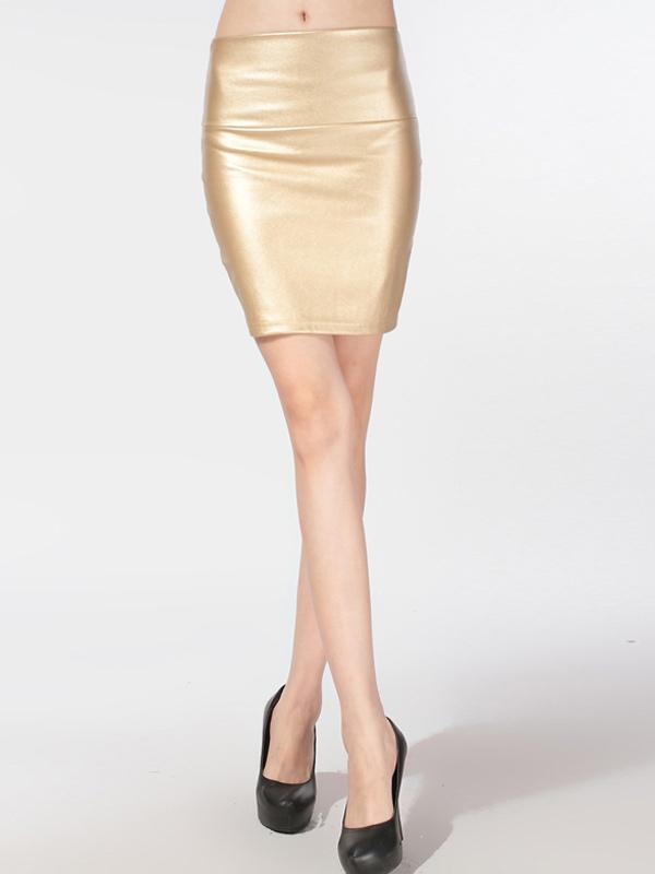 Short PU Leather Skirt
