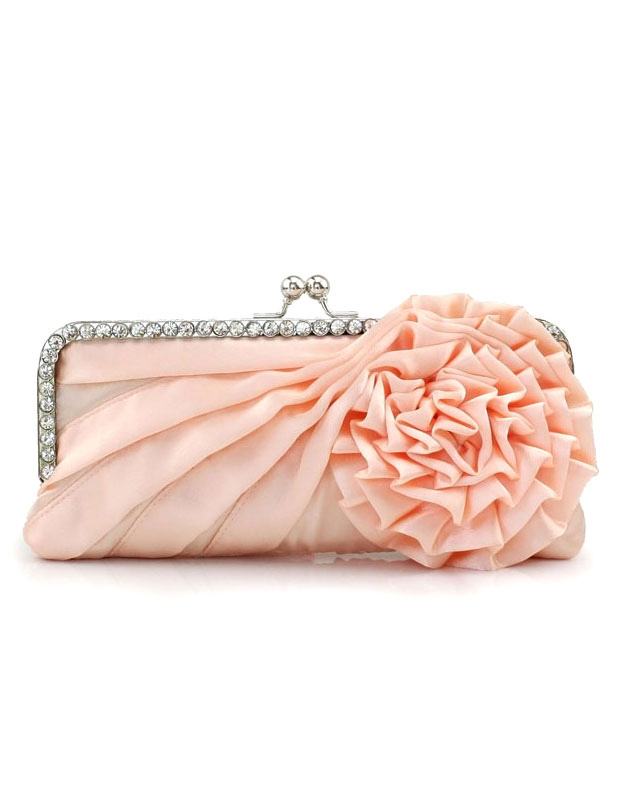 Elegant Floral Shape Jacquard Silk Women's Evening Bag