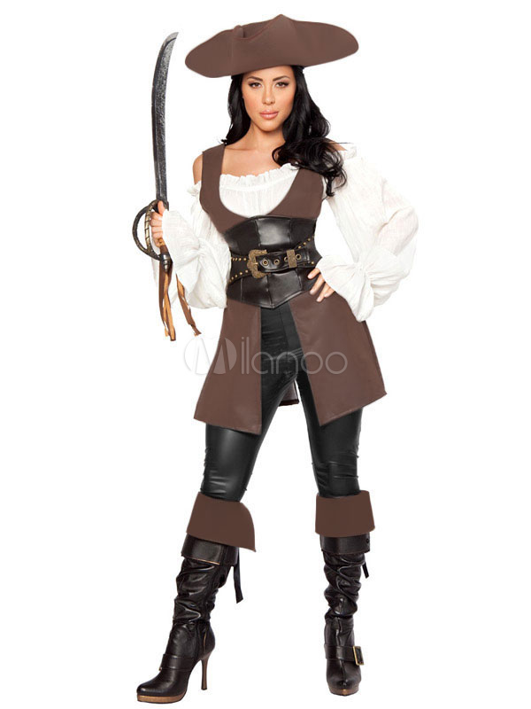 Buy Halloween Pirate Costume Woman's Caribbean Pirate Costume Cosplay Halloween for $62.09 in Milanoo store