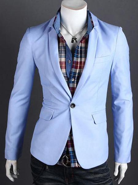 Super Cotone Business Casual Slim Fit Blazer giacca uomo con pulsante  ZS39